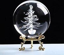 ERTERT Boule de Cristal 80mm Gravure d'arbre