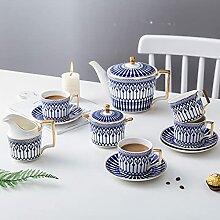 ErZhuiZi Service à Thé en Porcelaine Tasses à