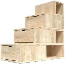 Escalier Cube de rangement hauteur 100 cm Brut