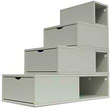 Escalier Cube de rangement hauteur 100 cm Moka