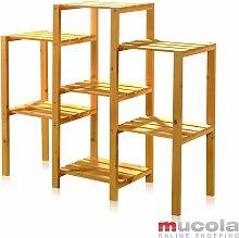 Escalier de fleurs / panier suspendu en bois à 7