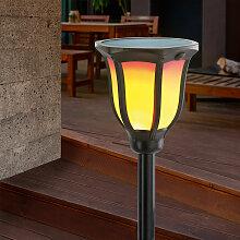Esotec - Torche solaire avec effet flamme LED