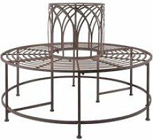 Esschert design banc circulaire métal 428868