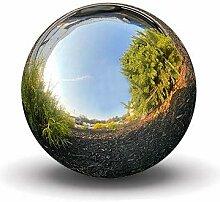 Esschert Design Globe terrestre Argenté Taille S