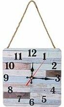 ESTINK Horloge murale en bois Horloge murale Style