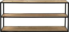 Eszential - Meuble à chaussures en métal et bois