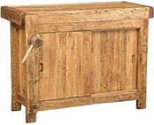 Etabli rustique style  bois massif de tilleul
