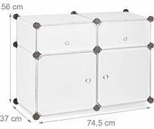 Étagère 4 casiers armoire compartiments