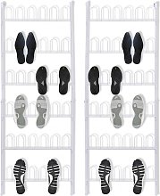 étagère à chaussures 18 Paires 2 pièces Acier