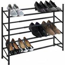 Étagère à chaussures anti glissante extensible