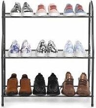 Étagère à Chaussures de 3 Niveaux de Chaussures