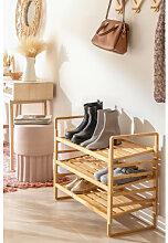 Étagère à chaussures modulable en bois de