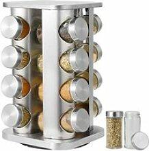 Étagère à épices avec 16 pots à épices,