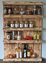 Etagère à épices en bois - à accrocher au mur