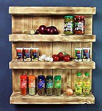 Etagère à épices en bois - pour mur ou sur pied