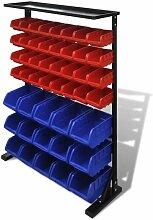 étagère à outils de garage Bleu et rouge