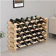 Étagère à vin casier à 72 bouteilles en bois