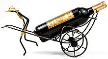 Étagère à vin style chinois rétro en fer forgé
