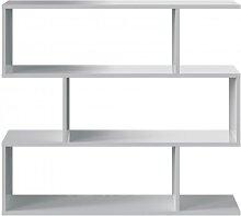 Étagère basse blanche à 3 niveaux L110cm x H97cm