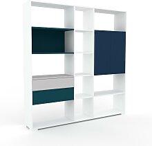 Étagère bureau - Bleu, moderne, cabinet de