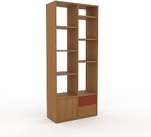Étagère - Chêne, design, avec porte Chêne et