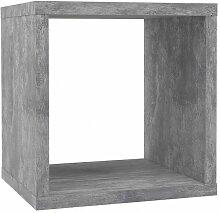 Etagère cube 1 casier décor béton gris -