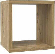 Etagère cube 1 casier décor bois rustique