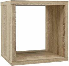 Etagère cube 1 casier décor chêne clair