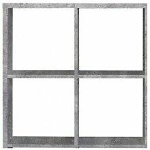 Etagère cube 4 casiers décor béton - Classico -