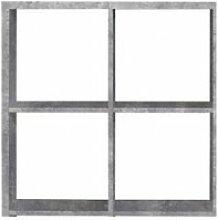 Etagère cube 4 casiers décor béton - classico