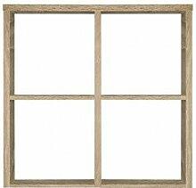 Étagère cube 4 casiers décor chêne - Classico