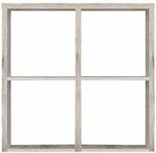 Étagère cube 4 casiers décor chêne gris -