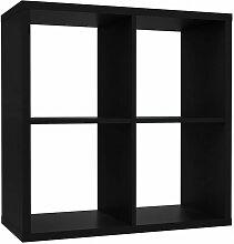 Etagère cube 4 casiers noir mat - CLASSICO - Noir