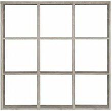 Étagère cube 9 casiers chêne grisé - Classico
