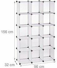 Étagère cubes rangement penderie armoire 15