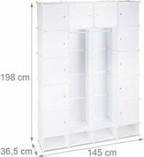 Étagère cubes rangement penderie armoire 18