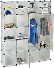 Étagère cubes rangement penderie armoire 20