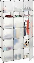 Étagère cubes rangement penderie armoire