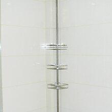 Etagère d'angle de douche - Inox - Hauteur