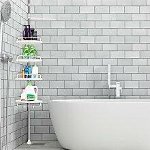 ®Etagère d'angle de douche télescopique