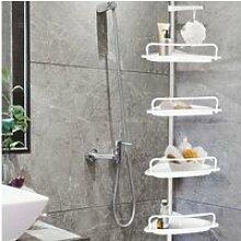 Etagère d'angle de douche télescopique