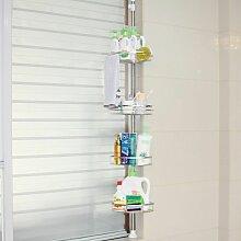 Etagère d'angle de douche télescopique en