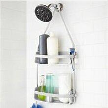 Etagère de douche à accrocher en plastique flex
