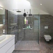 Étagère de douche à suspendre - 3 étages
