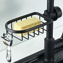 Étagère de rangement, évier de cuisine, robinet