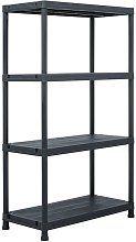 etagere de rangement Noir 200 kg 80x40x138 cm