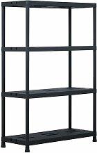 etagere de rangement Noir 220 kg 90x40x138 cm