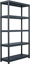 étagère de rangement Noir 500 kg 100x40x180 cm