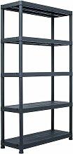 etagere de rangement Noir 500 kg 100x40x180 cm
