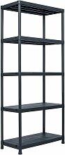 etagere de rangement Noir 500 kg 90x60x180 cm
